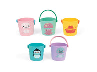 Baby Bath Time Hamper Box with Fun Bath Buckets