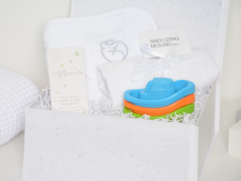 Baby Bath Time Hamper Box with Mum & Baby Oil