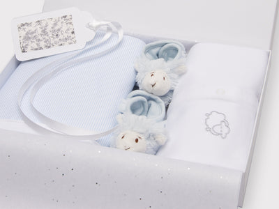 Baby Boy Little Lamb Set