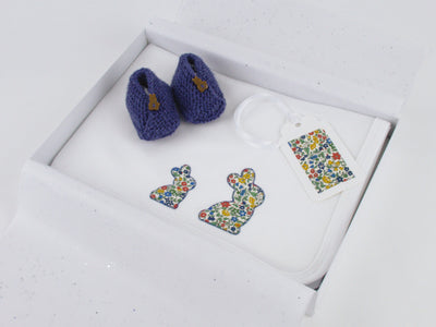 Liberty London Bunny Blanket and shoe set