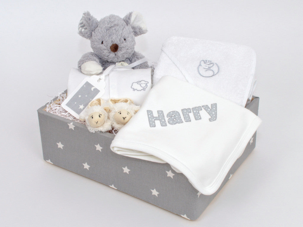 Ultimate Personalised Snoozing Mouse Baby Hamper (Unisex)