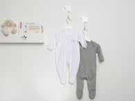 personalised white sleepsuit