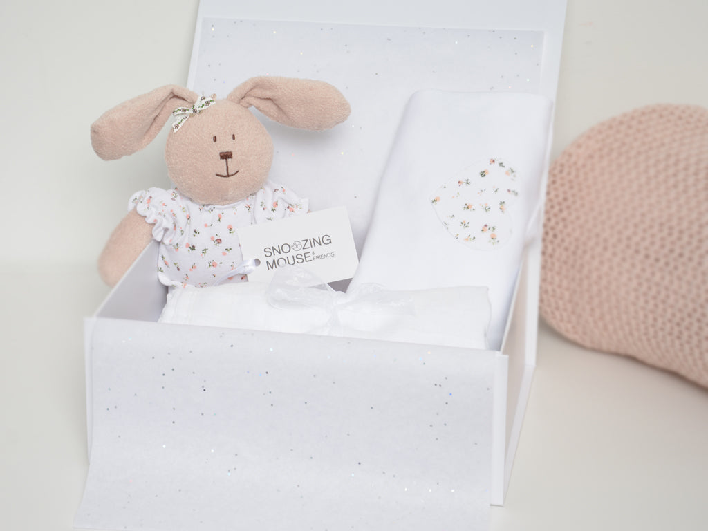 Baby Girl Bunny Hamper Box