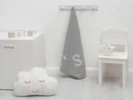 Personalised Stars & Moon Blanket Grey