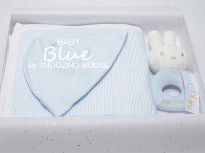 Baby boy gift set with Miffy rattle