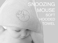 Soft cotton Snoozing Mouse hooded baby towel