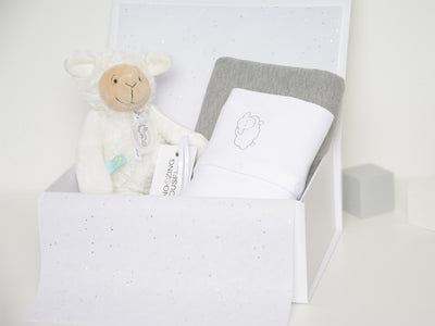 Personalised Little Lamb Unisex Hamper Box