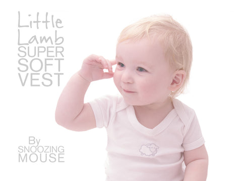 Soft cotton little lamb baby vest