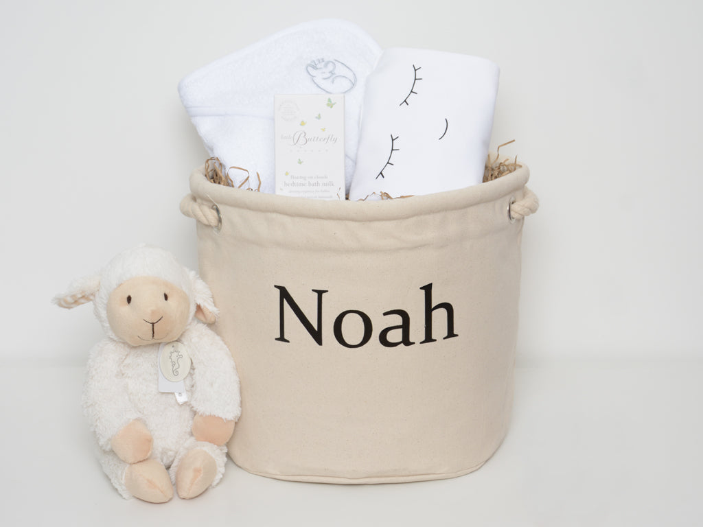 Personalised Baby Bath & Bedtime Hamper Basket