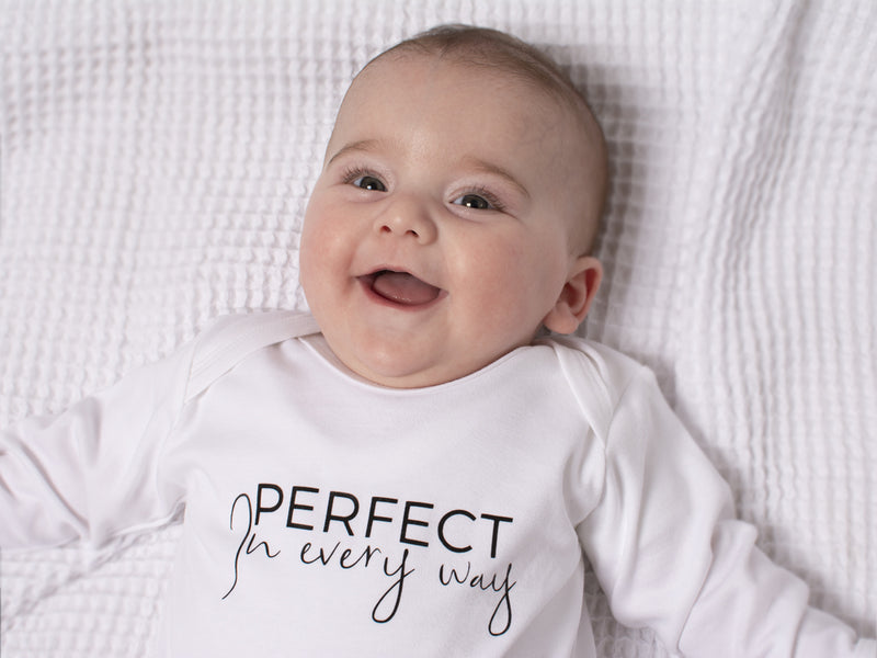Perfect In Every Way Sleepsuit with Cotton Gift Bag