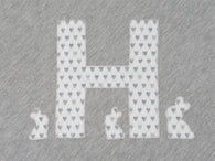Personalised Baby Bunny Blanket Grey