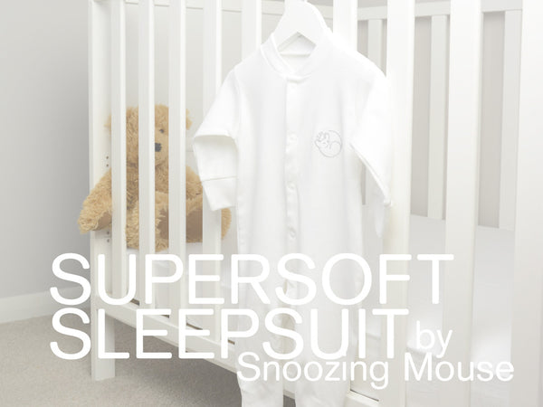 Snoozing Mouse Sleepsuit & Bodysuit Vest Set with Mouse Rattle