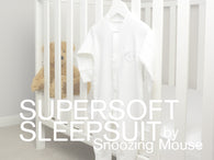 Soft cotton Snoozing Mouse baby sleepsuit