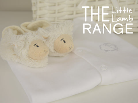 Soft cotton little lamb baby sleepsuit and slippers