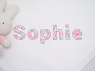 Liberty Print Personalised Baby Girl Blanket