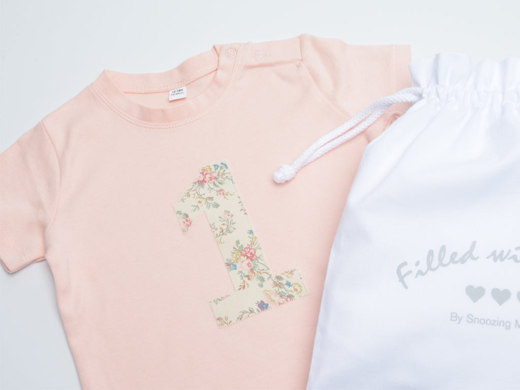 Floral Baby Girl First Birthday T-shirt