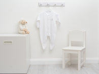 Cotton Sleepsuit with Lamb Embroidery