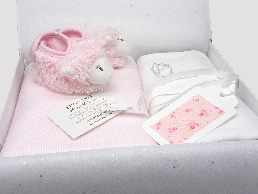 Baby girl hamper gift box