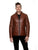 Men's Cognac Leather Jacket ANTON | Sly & Co