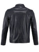 Men's black leather jacket Dolci | Sly & Co