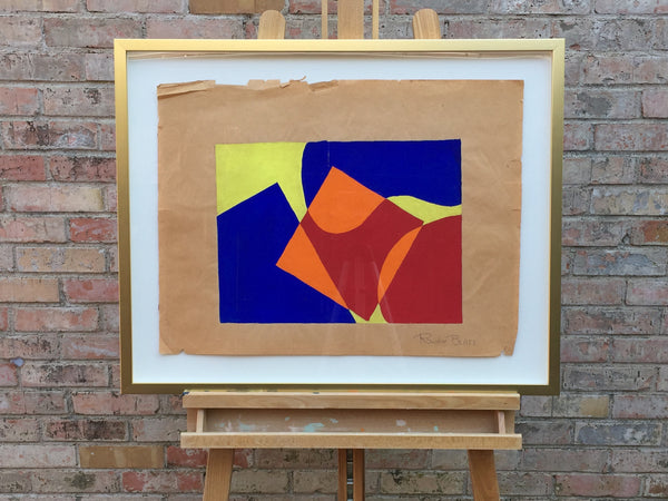 Modern Abstract, gouache on paper