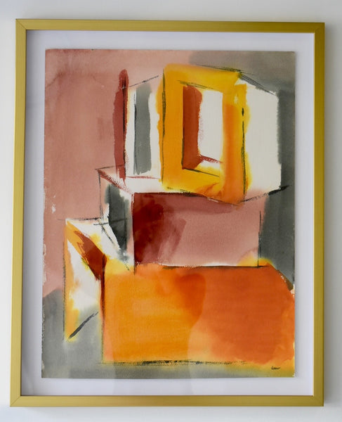 Modern Abstract, watercolor on paper