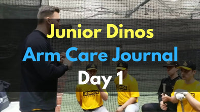 Junior Dinos Arm Care Journal - Day 1