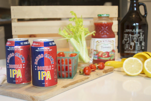 Beery Mary: Bloody Mary with a Double IPA