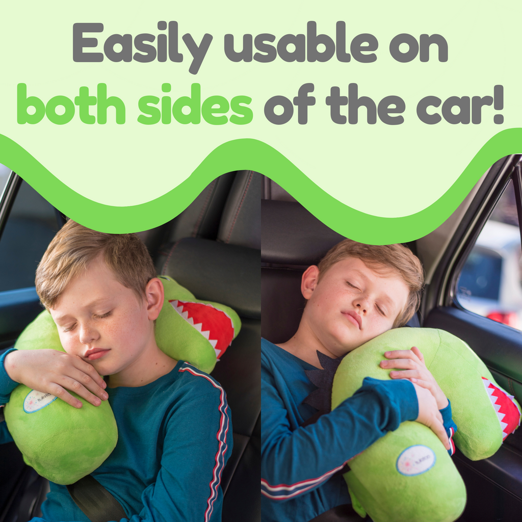 Tulatoo Dinosaur Travel Pillow - The fiercest Travel Neck Pillow and Kids Travel Pillow!