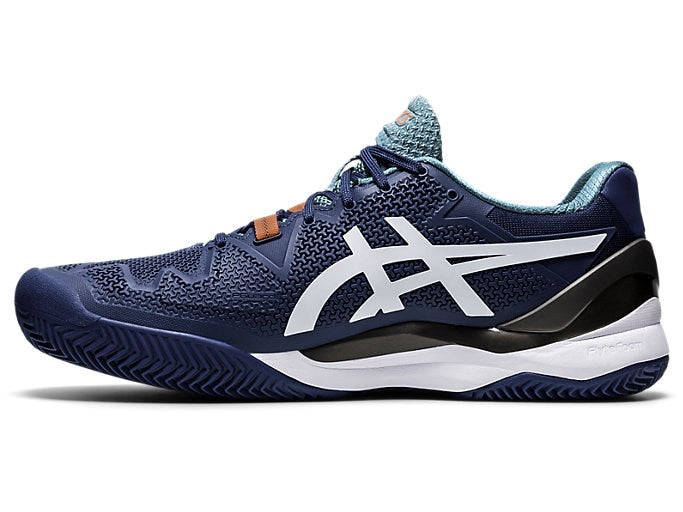 Asics Gel Resolution 8 Clay (Men's) - Mako Blue/White