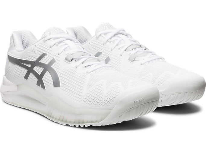 Asics Gel Resolution 8 (Men's) - White/Pure Silver