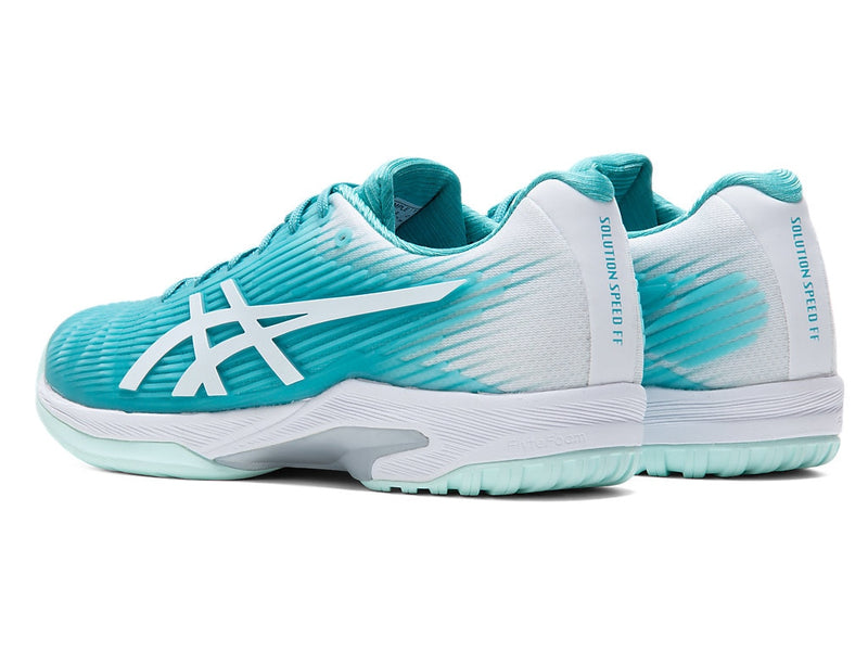 Asics Solution Speed FF (Women's) - Techno Cyan/White
