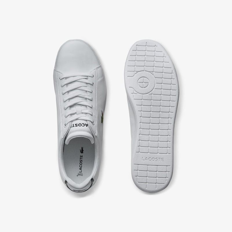 Lacoste Carnaby Evo Leather Sneakers (Men's) - White