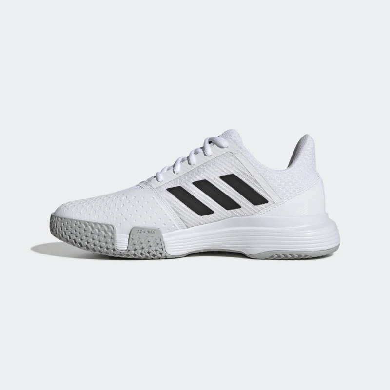 Adidas CourtJam Bounce (Women's) - Cloud White/Core Black/Matte Silver
