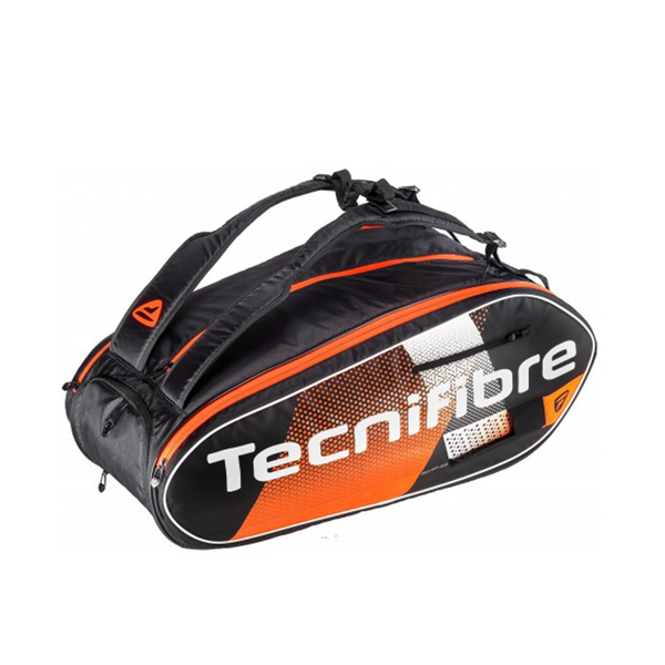 Tecnifibre Air Endurance 12R 2020 Bag - Black/Orange-Bags-online tennis store canada