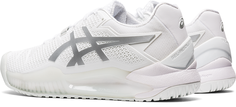 Asics Gel Resolution 8 (Women's) - White/Pure Silver