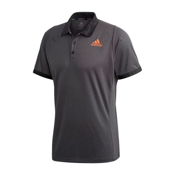Adidas Freelift Primeblue Tennis Polo Shirt (Men's) - Grey Six/True Orange