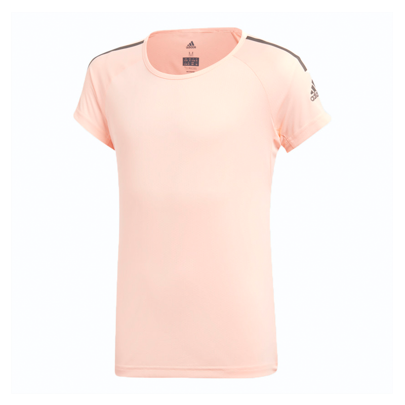 Adidas Training Cool T-Shirt (Girl's) - Clear Orange/Grey