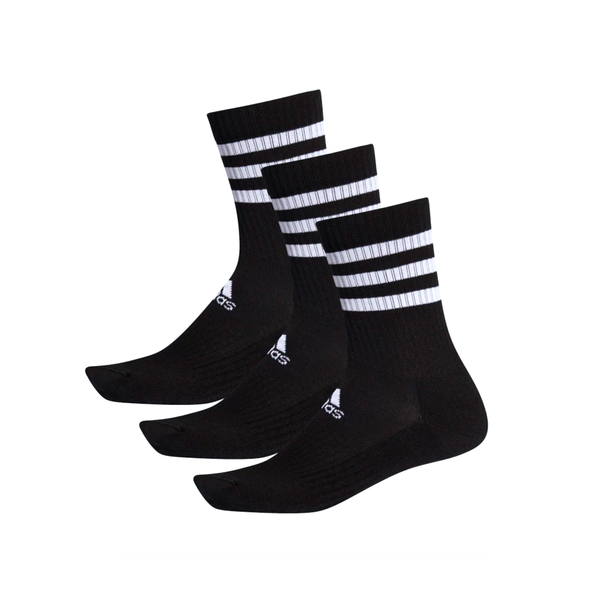 Adidas 3-Stripes Cushion Crew Sock (3-Pack) - Black/White