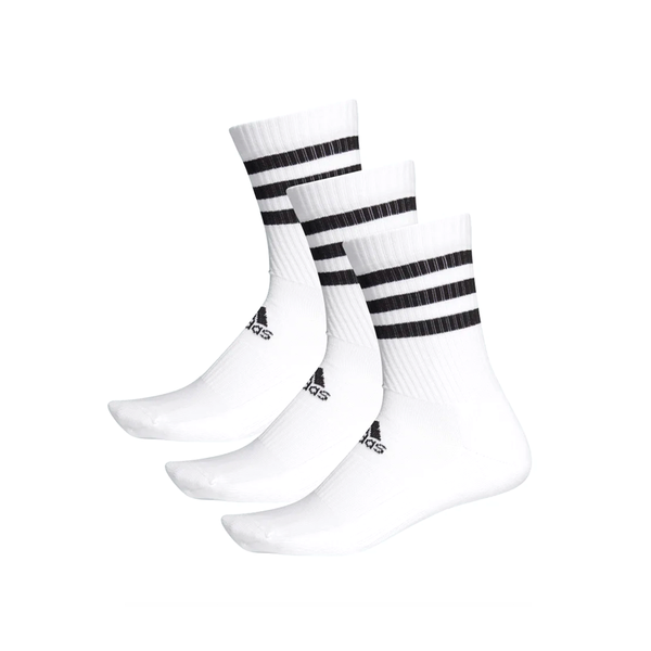 Adidas 3-Stripes Cushion Crew Sock (3-Pack) - White/Black