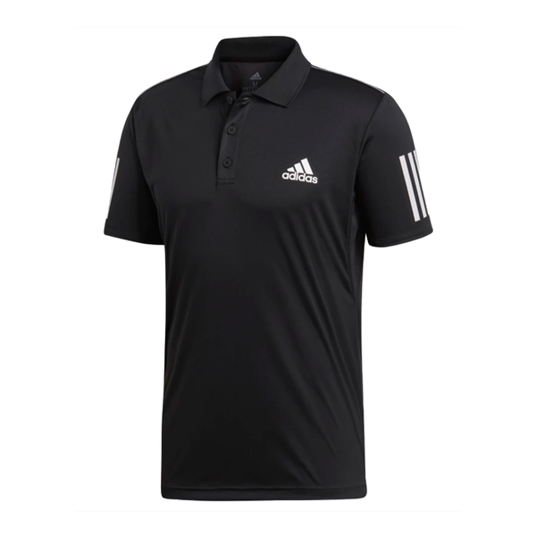 Adidas 3 Stripes Club Polo (Men's) - Black/White