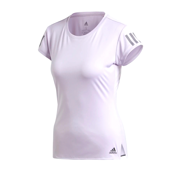 Adidas Club 3 Stripe Tee (Women's) - Purple Tint/Grey