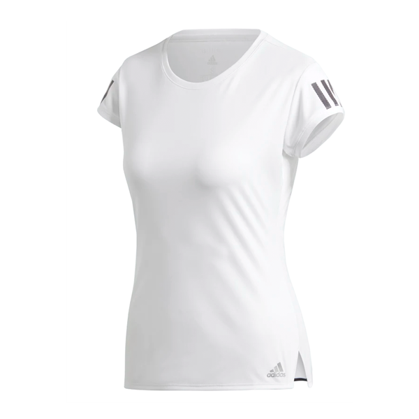 Adidas Club 3 Stripes Tee (Women's) - White