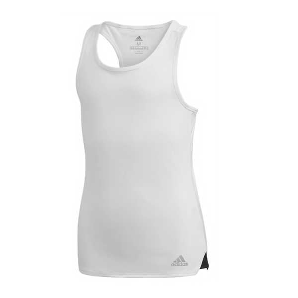 Adidas Club Tank (Girl's) - White/Matte Silver/Black