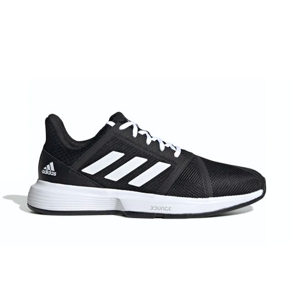 Adidas CourtJam Bounce (Men's) - Core Black/Cloud White/Matte Silver