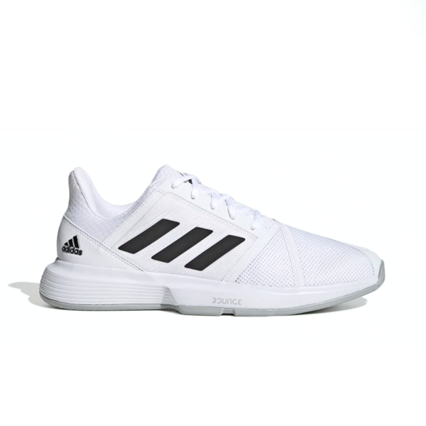 Adidas CourtJam Bounce (Men's) - Cloud White/Core Black/Matte Silver