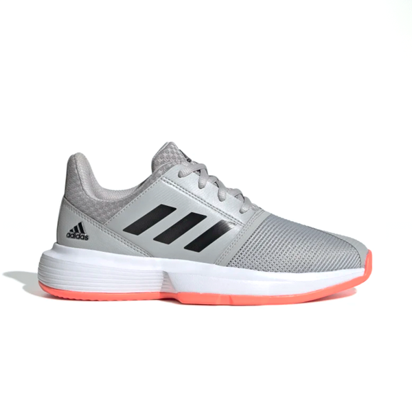 Adidas CourtJam xJ (Junior's) - Grey/Black/Signal Coral