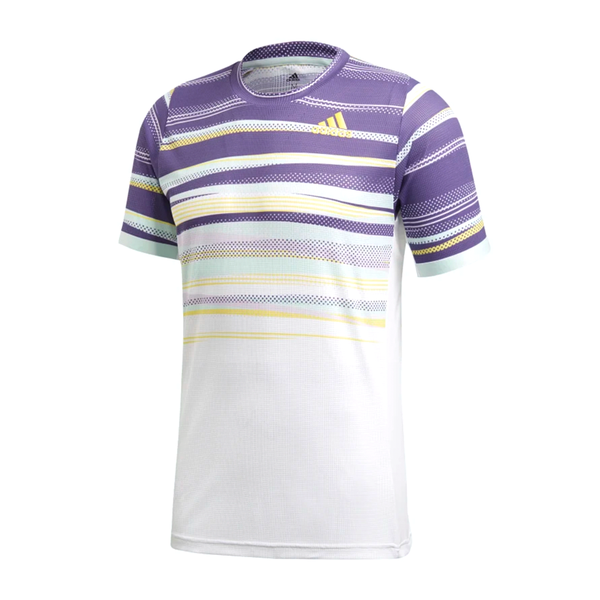 Adidas Freelift Heat.RDY Top (Men's) - White/Tech Purple/Shock Yellow