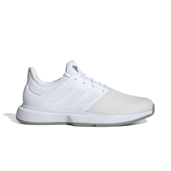 Adidas GameCourt (Men's) - Cloud White/Dove Grey