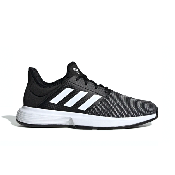 Adidas GameCourt (Men's) - Core Black/Cloud White/Grey Six